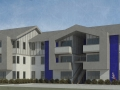 Claxter-View of West Building From Parking Area